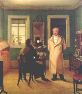 Goethe dikterer. Joseph Schmeller, 1831.